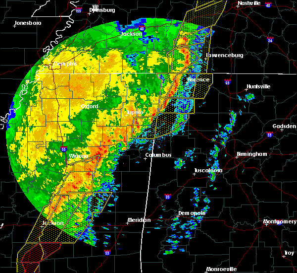 Radar Image for Severe Thunderstorms near Mississippi State, MS at 1/11/2020 8:18 AM CST