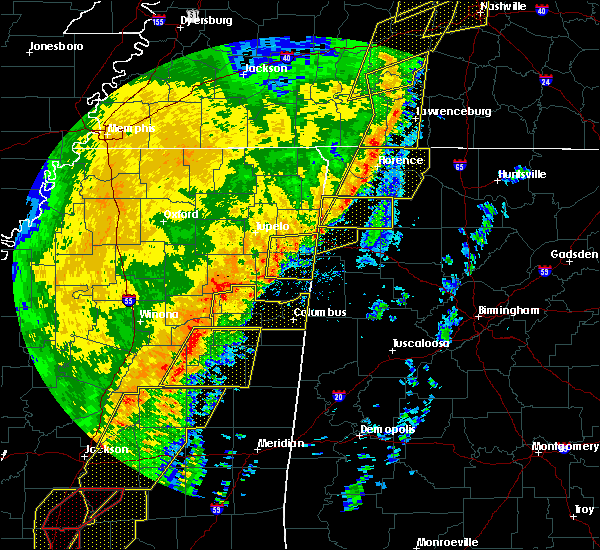 Radar Image for Severe Thunderstorms near Mississippi State, MS at 1/11/2020 8:29 AM CST