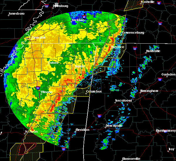 Radar Image for Severe Thunderstorms near Hamilton, AL at 1/11/2020 8:41 AM CST