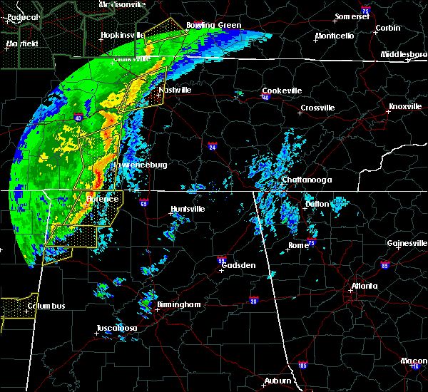 Radar Image for Severe Thunderstorms near Summertown, TN at 1/11/2020 8:45 AM CST