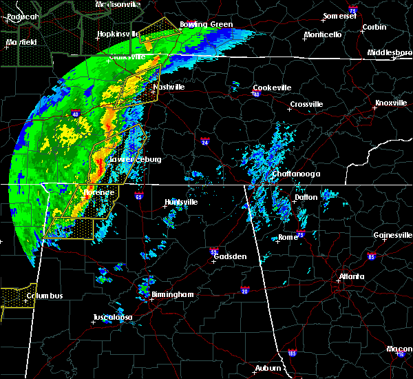 Radar Image for Severe Thunderstorms near Summertown, TN at 1/11/2020 8:54 AM CST