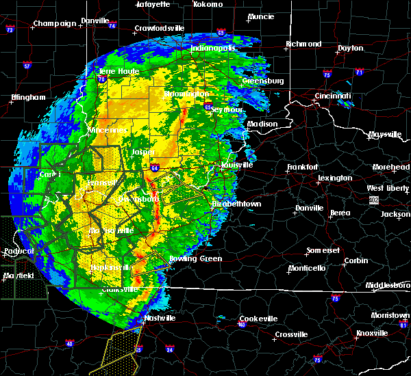 Radar Image for Severe Thunderstorms near Irvington, KY at 1/11/2020 8:55 AM CST