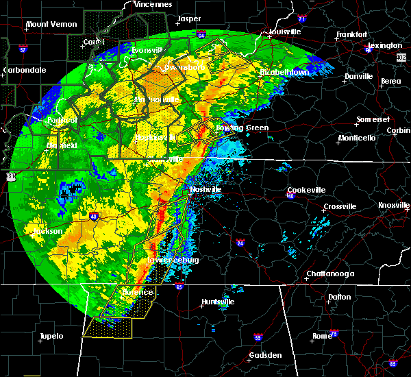 Radar Image for Severe Thunderstorms near Summertown, TN at 1/11/2020 9:05 AM CST