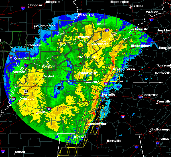 Radar Image for Severe Thunderstorms near Bowling Green, KY at 1/11/2020 9:22 AM CST