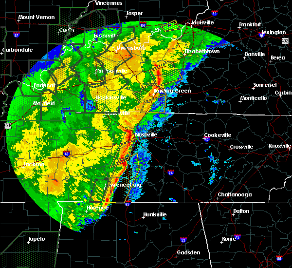 Radar Image for Severe Thunderstorms near Mount Juliet, TN at 1/11/2020 9:25 AM CST