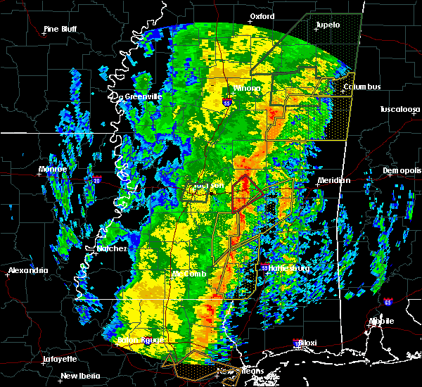 Radar Image for Severe Thunderstorms near Newton, MS at 1/11/2020 9:32 AM CST