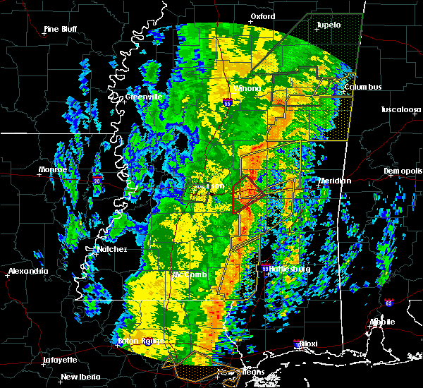 Radar Image for Severe Thunderstorms near Decatur, MS at 1/11/2020 9:38 AM CST