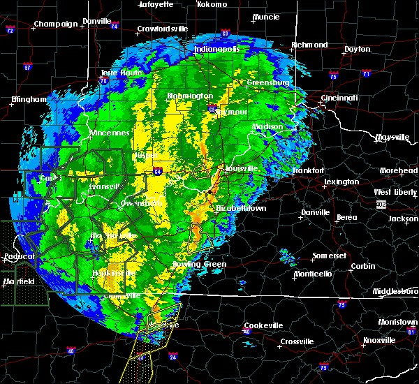 Radar Image for Severe Thunderstorms near Georgetown, IN at 1/11/2020 10:39 AM EST
