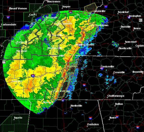 Radar Image for Severe Thunderstorms near La Vergne, TN at 1/11/2020 9:46 AM CST
