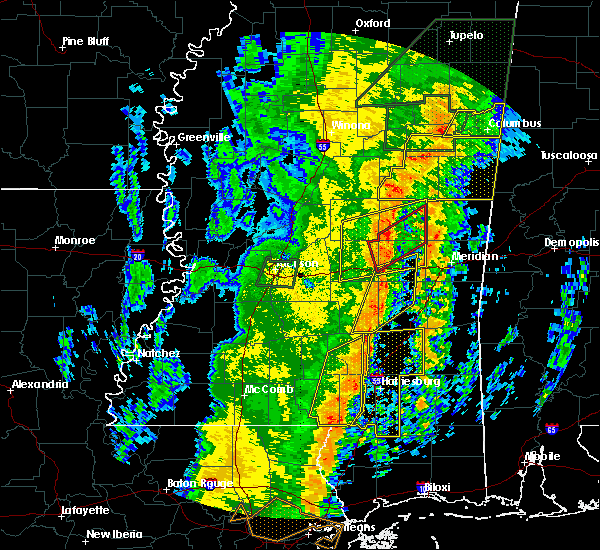 Radar Image for Severe Thunderstorms near Bay Springs, MS at 1/11/2020 9:53 AM CST