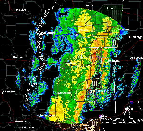 Radar Image for Severe Thunderstorms near Newton, MS at 1/11/2020 10:02 AM CST
