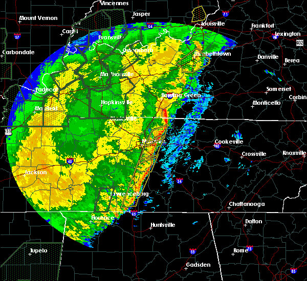 Radar Image for Severe Thunderstorms near Nashville, TN at 1/11/2020 10:03 AM CST