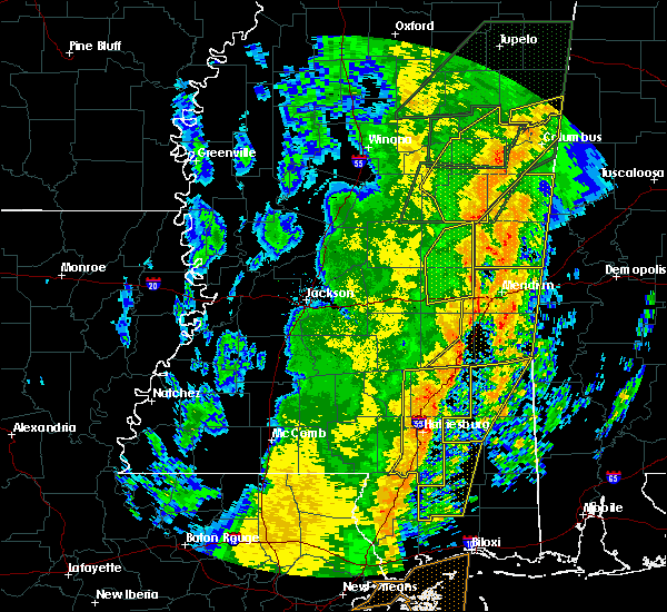 Radar Image for Severe Thunderstorms near Newton, MS at 1/11/2020 10:24 AM CST