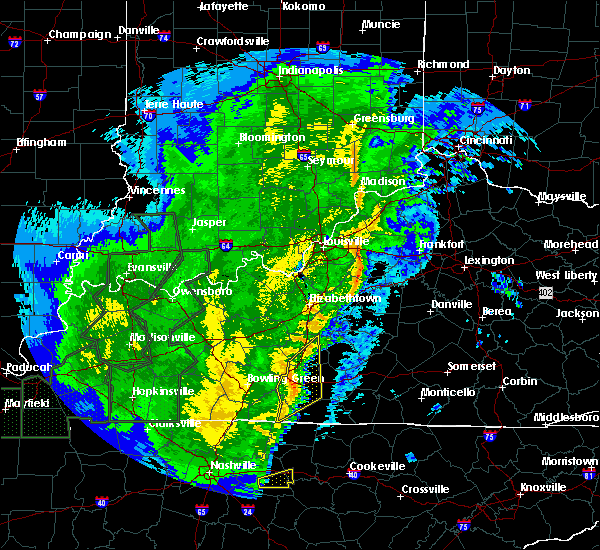 Radar Image for Severe Thunderstorms near Taylorsville, KY at 1/11/2020 11:25 AM EST