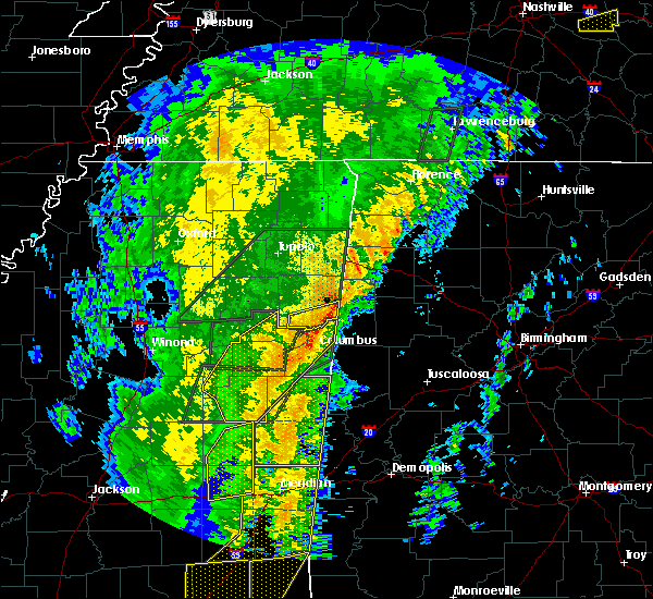 Radar Image for Severe Thunderstorms near Crawford, MS at 1/11/2020 10:29 AM CST