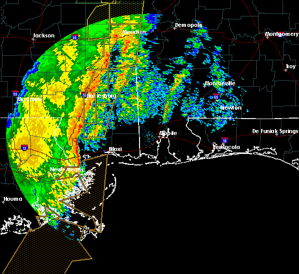 Radar Image for Severe Thunderstorms near Glendale, MS at 1/11/2020 10:29 AM CST