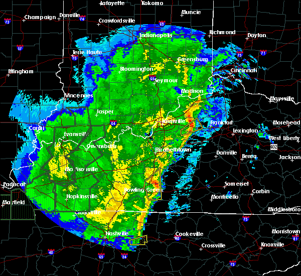 Radar Image for Severe Thunderstorms near Magnolia, KY at 1/11/2020 10:37 AM CST
