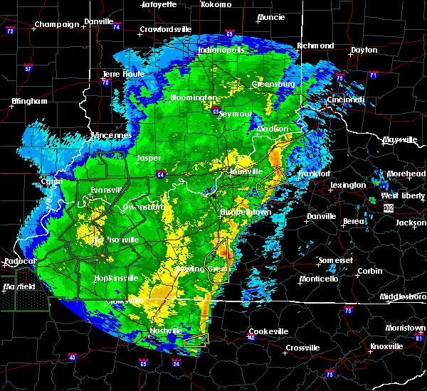 Radar Image for Severe Thunderstorms near Shelbyville, KY at 1/11/2020 11:38 AM EST