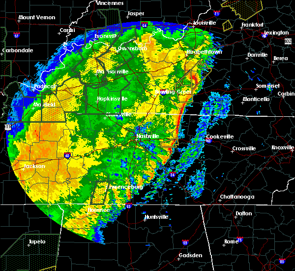Radar Image for Severe Thunderstorms near Alexandria, TN at 1/11/2020 10:43 AM CST