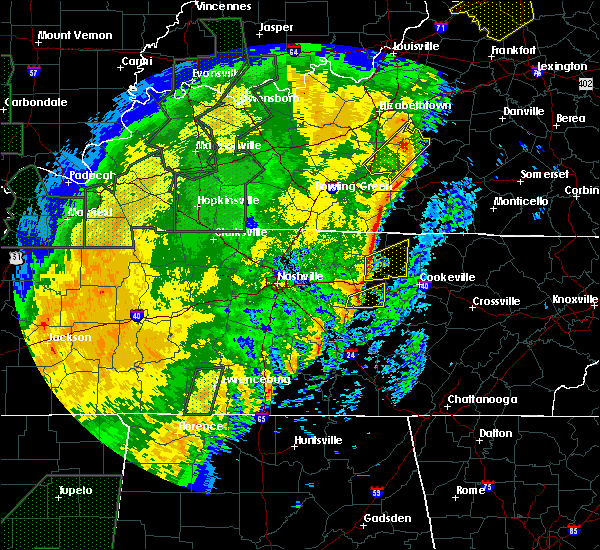 Radar Image for Severe Thunderstorms near Carthage, TN at 1/11/2020 10:50 AM CST