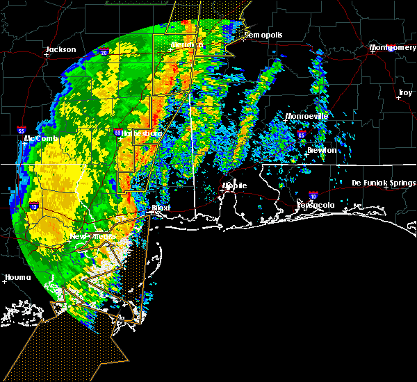 Radar Image for Severe Thunderstorms near Silas, AL at 1/11/2020 10:58 AM CST