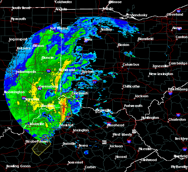 Radar Image for Severe Thunderstorms near Dry Ridge, KY at 1/11/2020 12:03 PM EST