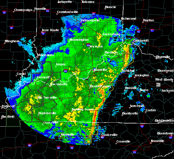 Radar Image for Severe Thunderstorms near Loretto, KY at 1/11/2020 12:07 PM EST