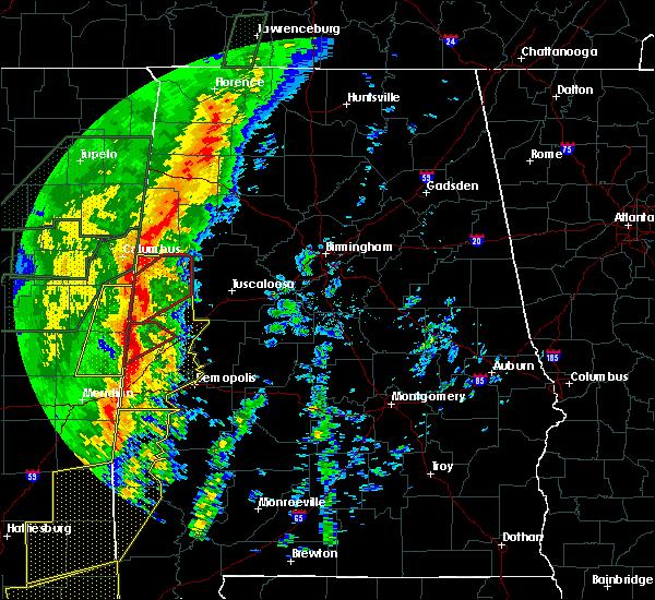 Radar Image for Severe Thunderstorms near Bellamy, AL at 1/11/2020 11:11 AM CST