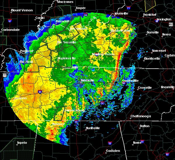 Radar Image for Severe Thunderstorms near Livingston, TN at 1/11/2020 11:14 AM CST