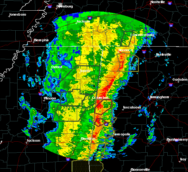 Radar Image for Severe Thunderstorms near Carrollton, AL at 1/11/2020 11:19 AM CST