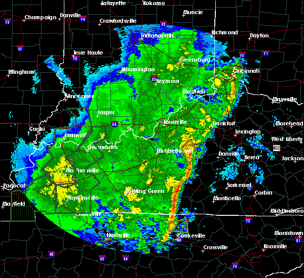 Radar Image for Severe Thunderstorms near Bardstown, KY at 1/11/2020 12:21 PM EST