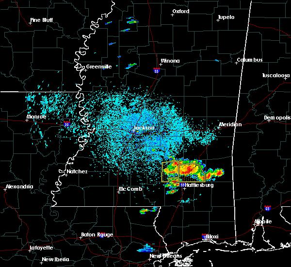 Radar Image for Severe Thunderstorms near West Hattiesburg, MS at 6/24/2015 1:15 PM CDT
