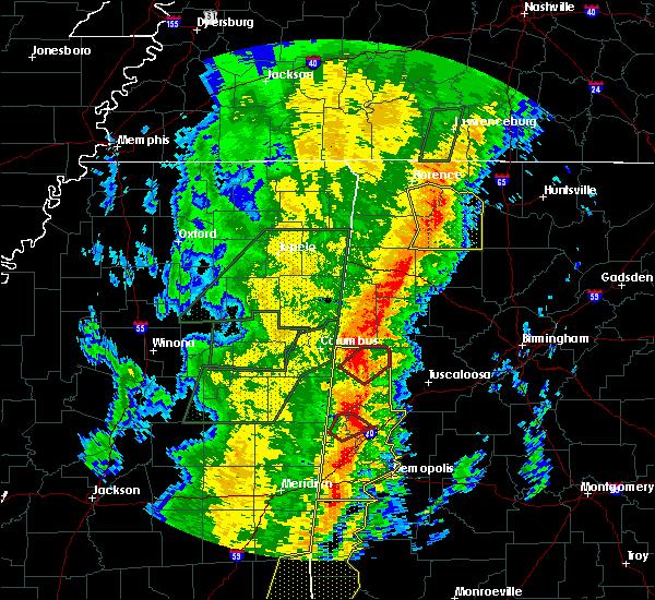 Radar Image for Severe Thunderstorms near Carrollton, AL at 1/11/2020 11:24 AM CST