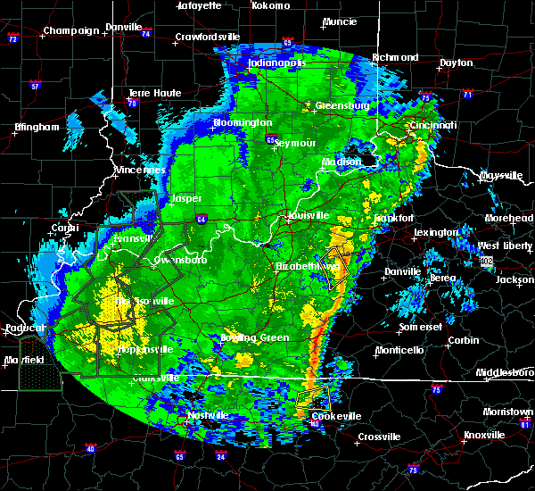Radar Image for Severe Thunderstorms near Bardstown, KY at 1/11/2020 12:24 PM EST