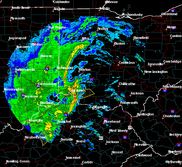 Radar Image for Severe Thunderstorms near Amelia, OH at 1/11/2020 12:32 PM EST