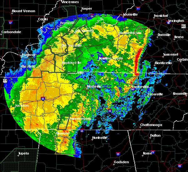 Radar Image for Severe Thunderstorms near Livingston, TN at 1/11/2020 11:34 AM CST