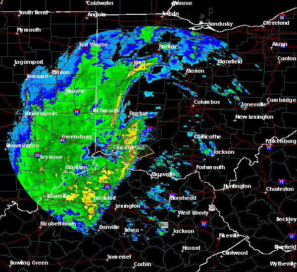 Radar Image for Severe Thunderstorms near Mount Orab, OH at 1/11/2020 12:41 PM EST