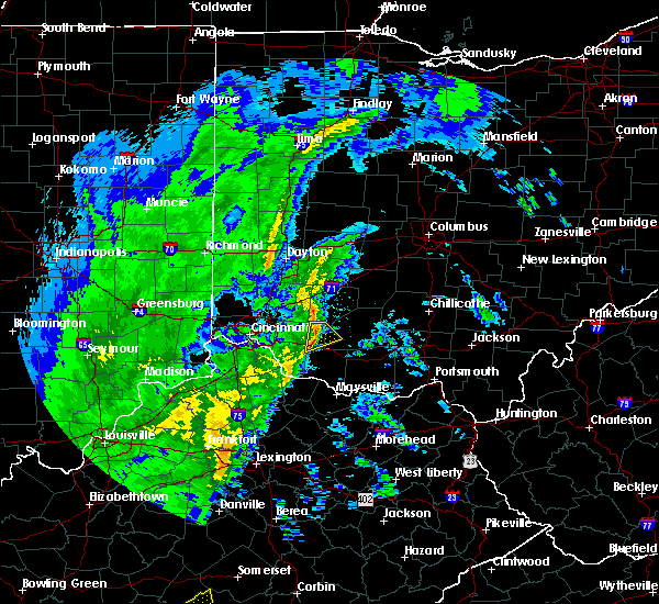 Radar Image for Severe Thunderstorms near Mount Orab, OH at 1/11/2020 12:55 PM EST