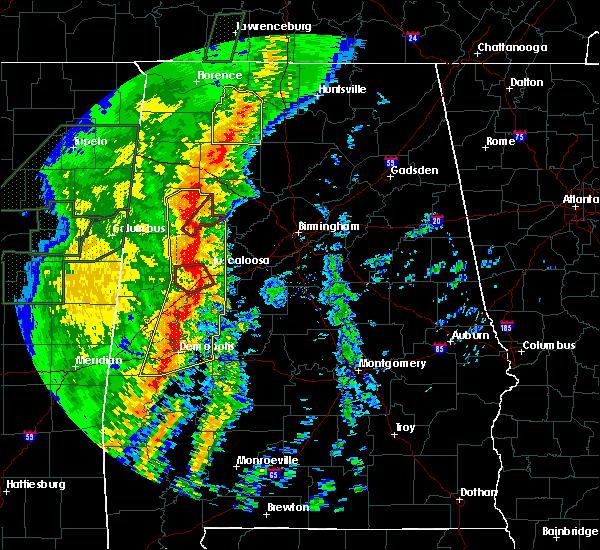 Radar Image for Severe Thunderstorms near Demopolis, AL at 1/11/2020 11:57 AM CST