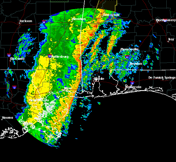 Radar Image for Severe Thunderstorms near Fruitdale, AL at 1/11/2020 11:57 AM CST