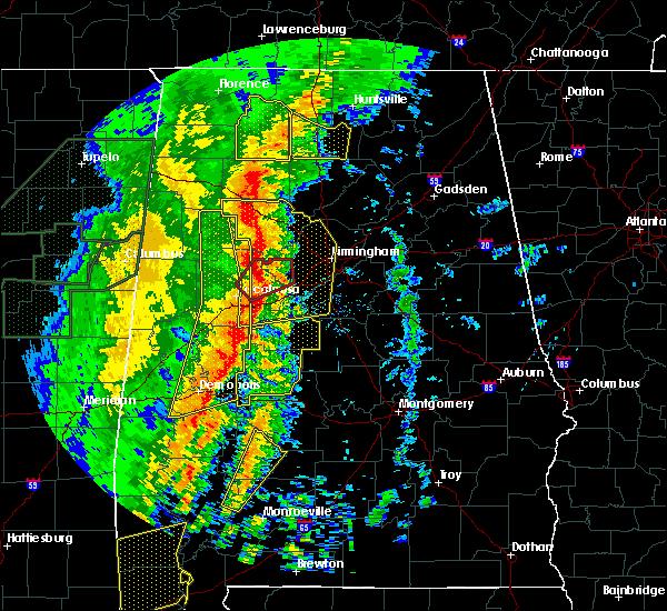 Radar Image for Severe Thunderstorms near Birmingham, AL at 1/11/2020 12:23 PM CST