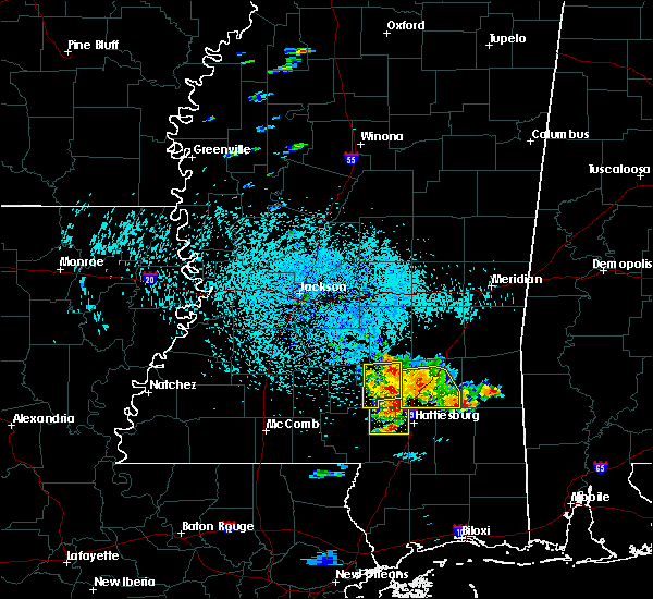 Radar Image for Severe Thunderstorms near Ellisville, MS at 6/24/2015 1:29 PM CDT