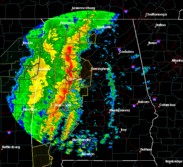 Radar Image for Severe Thunderstorms near Mulga, AL at 1/11/2020 12:22 PM CST