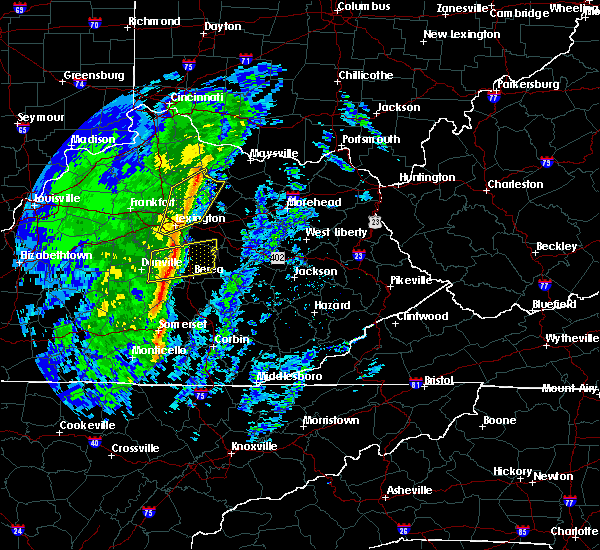 Radar Image for Severe Thunderstorms near Paris, KY at 1/11/2020 1:23 PM EST