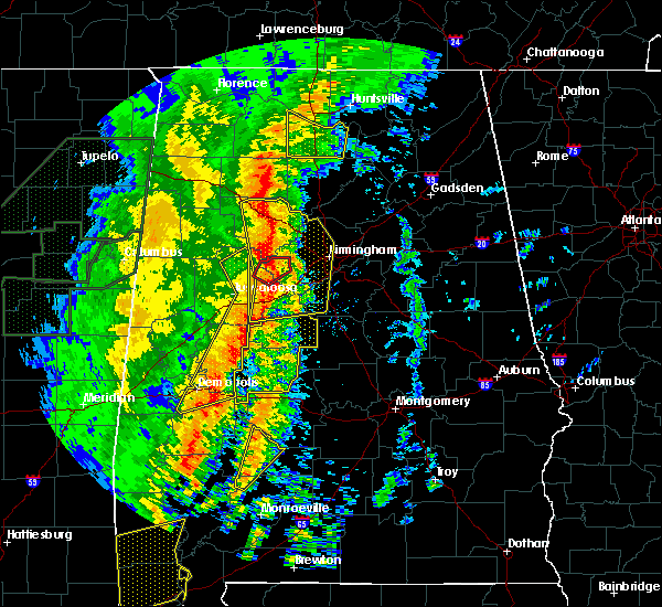 Radar Image for Severe Thunderstorms near Rock Creek, AL at 1/11/2020 12:29 PM CST