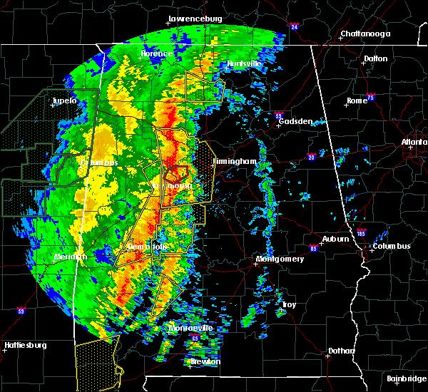 Radar Image for Severe Thunderstorms near Birmingham, AL at 1/11/2020 12:29 PM CST