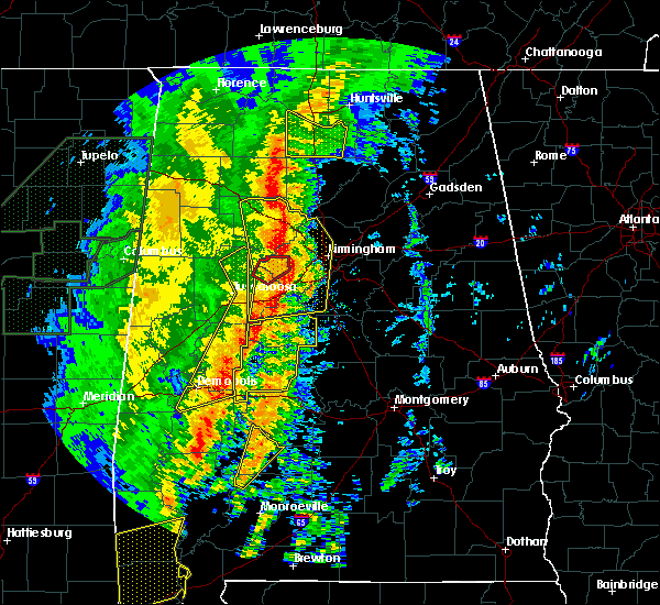 Radar Image for Severe Thunderstorms near Yellow Bluff, AL at 1/11/2020 12:31 PM CST