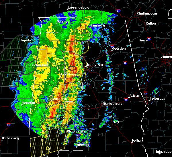 Radar Image for Severe Thunderstorms near Mulga, AL at 1/11/2020 12:38 PM CST