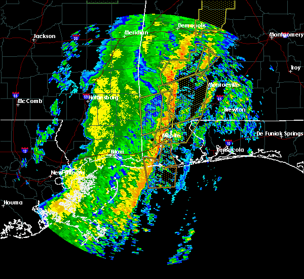 Radar Image for Severe Thunderstorms near Spanish Fort, AL at 1/11/2020 12:37 PM CST
