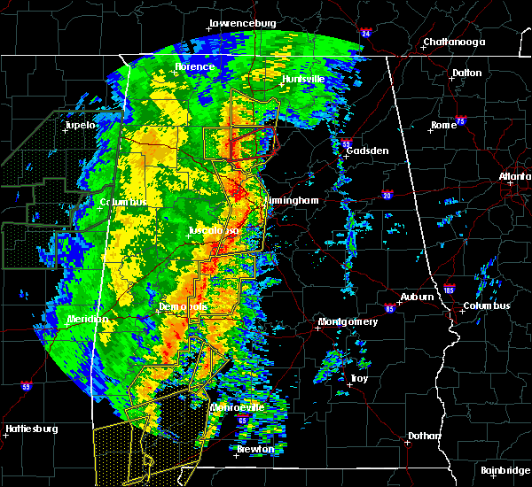 Radar Image for Severe Thunderstorms near Mulga, AL at 1/11/2020 12:41 PM CST